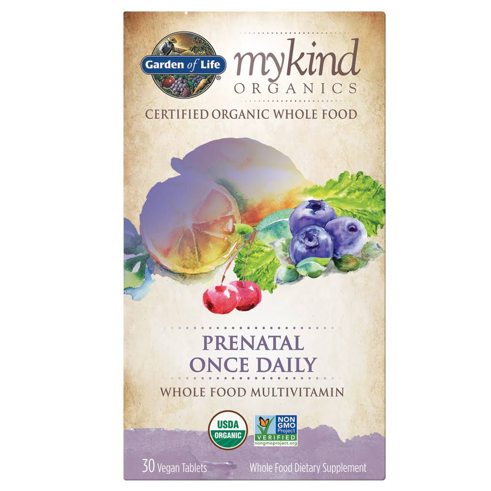 Garden of Life Mykind Organics Prenatal Multivitamin Supplement - 30 Tablets