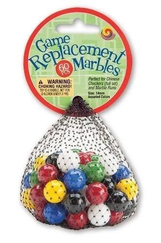 Mega Marbles Game Replacement Marbles - 14mm, 60pcs