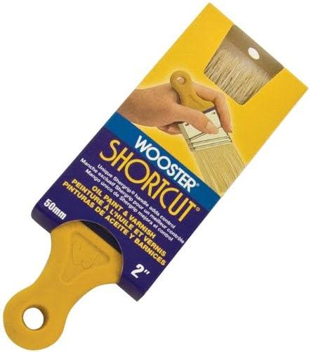 Wooster Shortcut White Bristle Angle Sash Paintbrush - 2 in