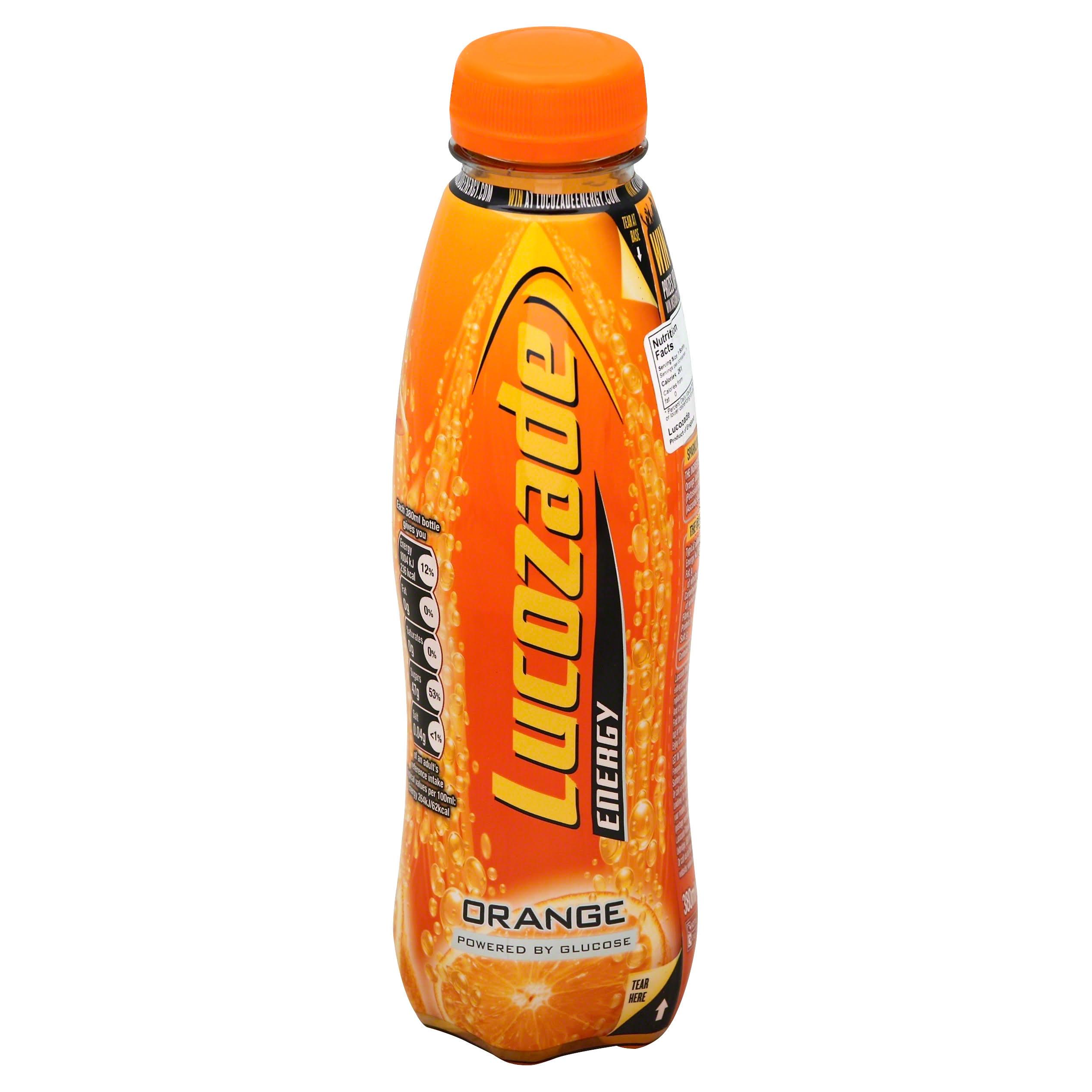 Lucozade Energy Drink - Orange, 380ml
