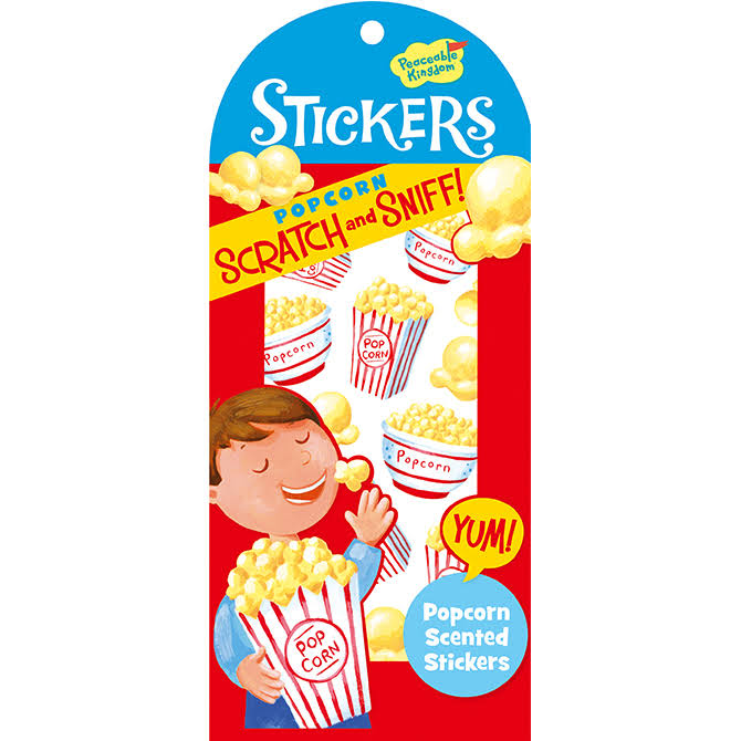Peaceable Kingdom Scratch & Sniff Stickers - Popcorn