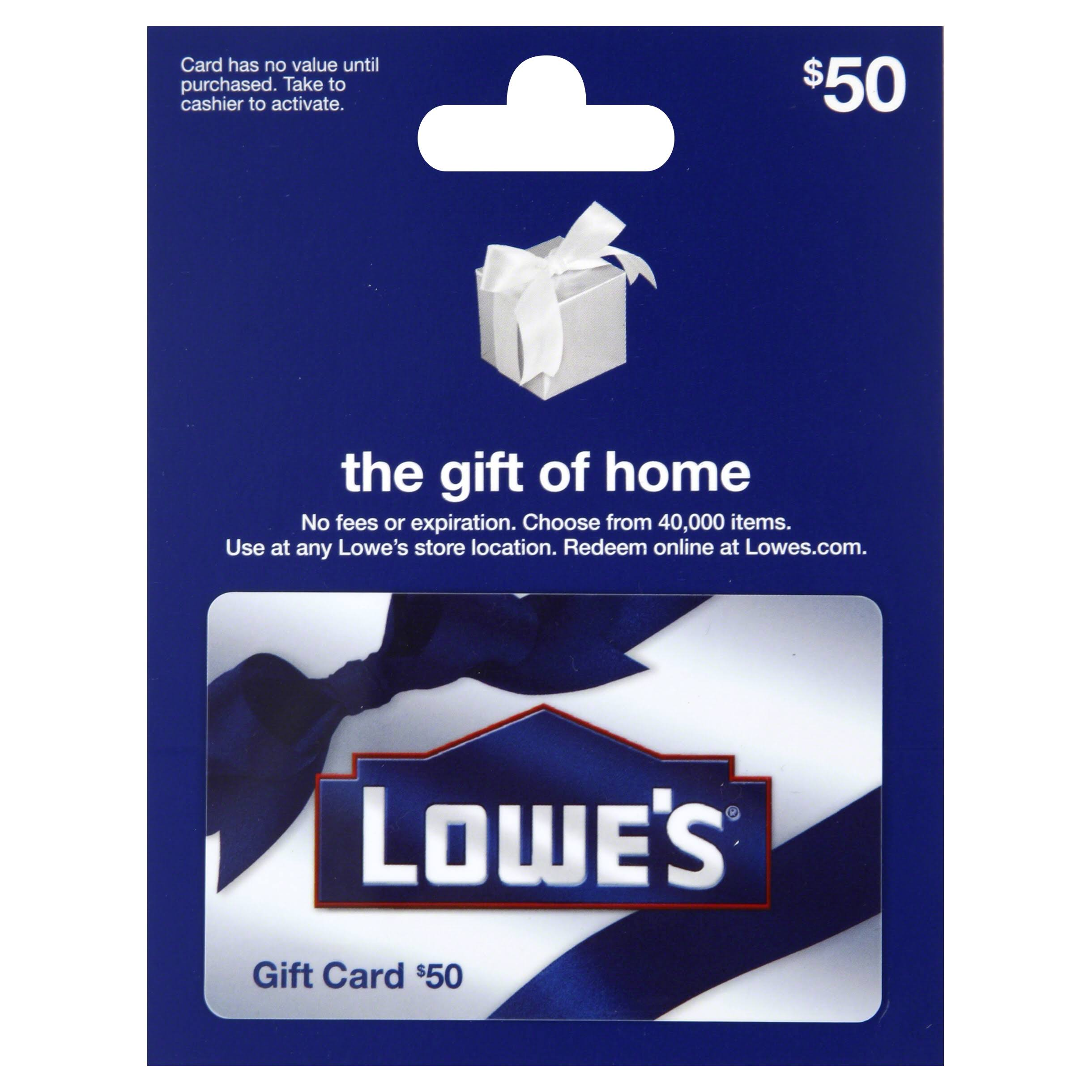 Lowes Gift Card,