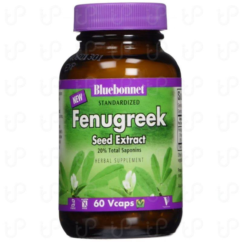 Bluebonnet Fenugreek Seed Extract Supplement - 60 Vegetarian Capsules