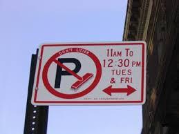 alternate side parking sign