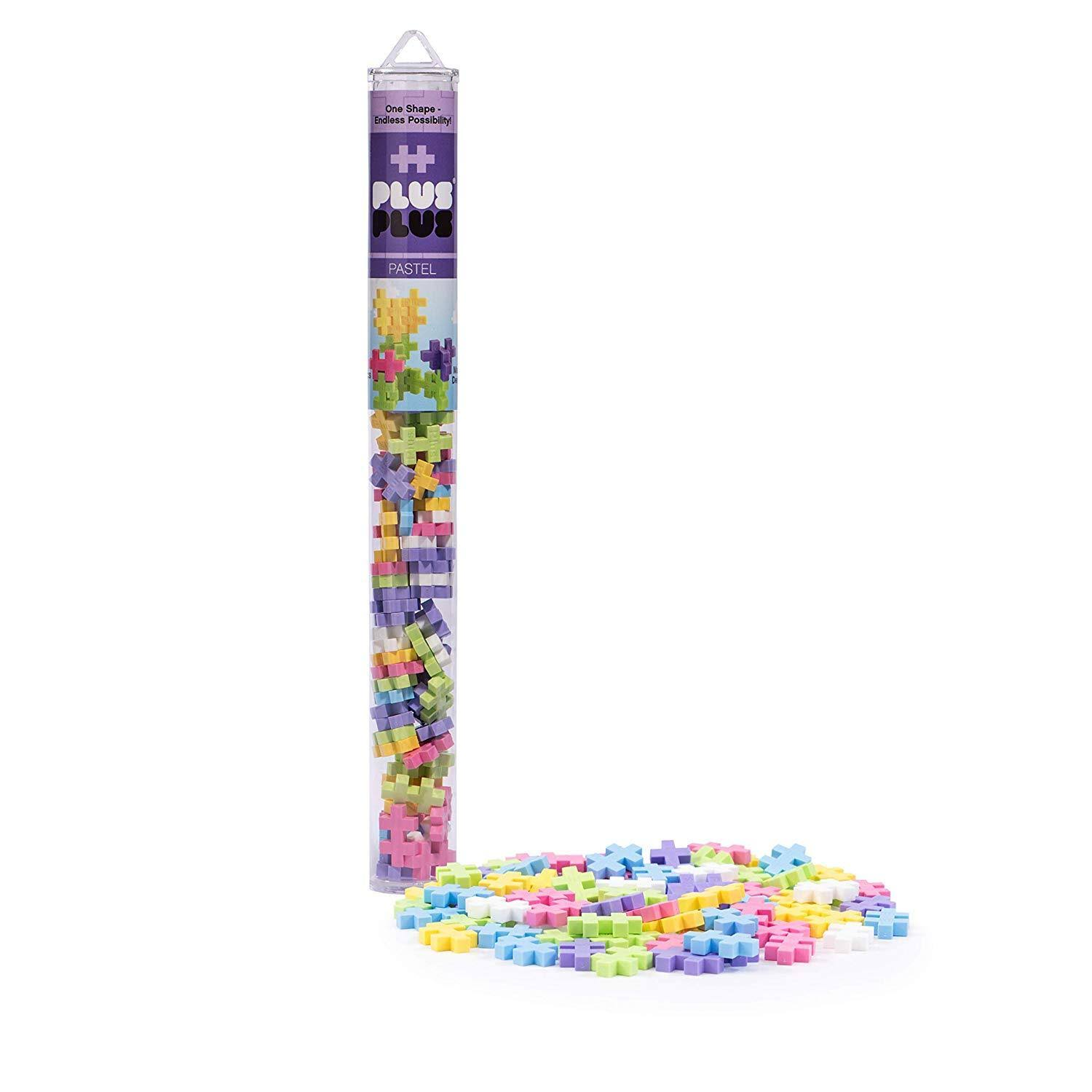 Plus-Plus Tube: Pastel Mix 70 Pieces, Size: One Size