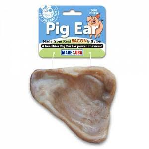 Pet Qwerks Bacon Pig Ear Dog Chew Toy