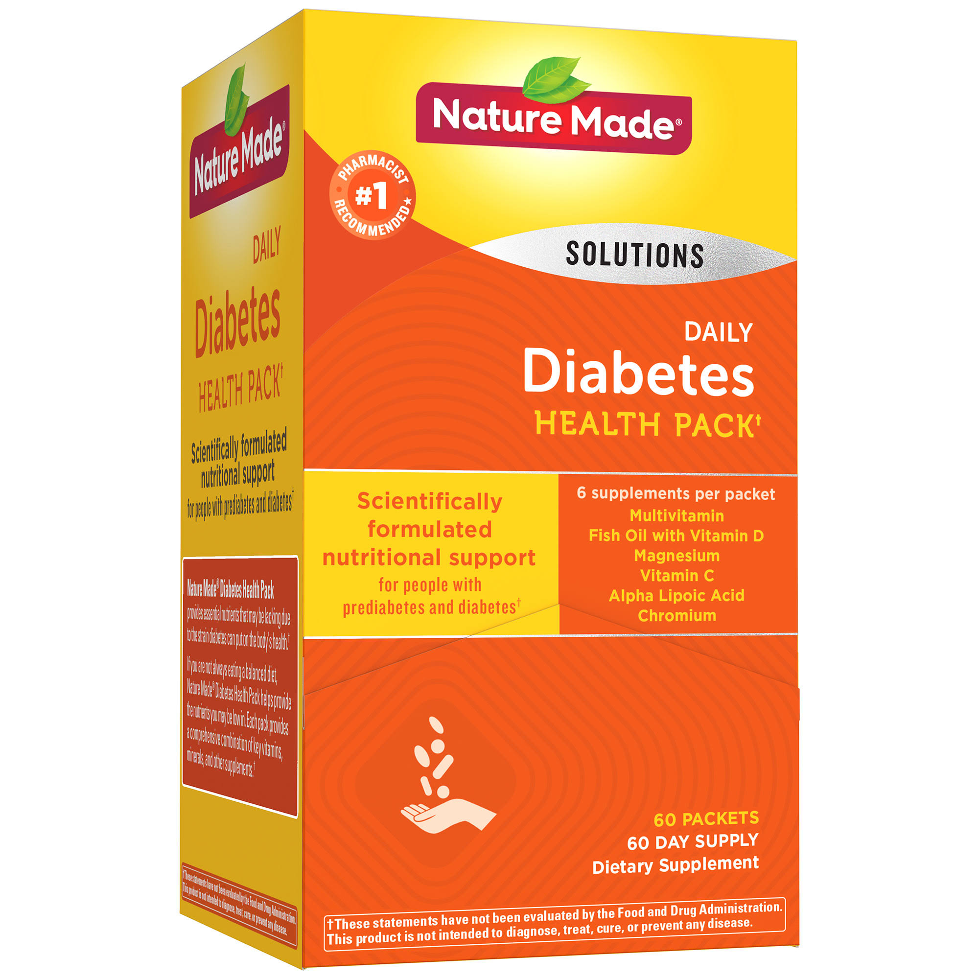 Nature Made Diabetes Health Pack - 60 Packets