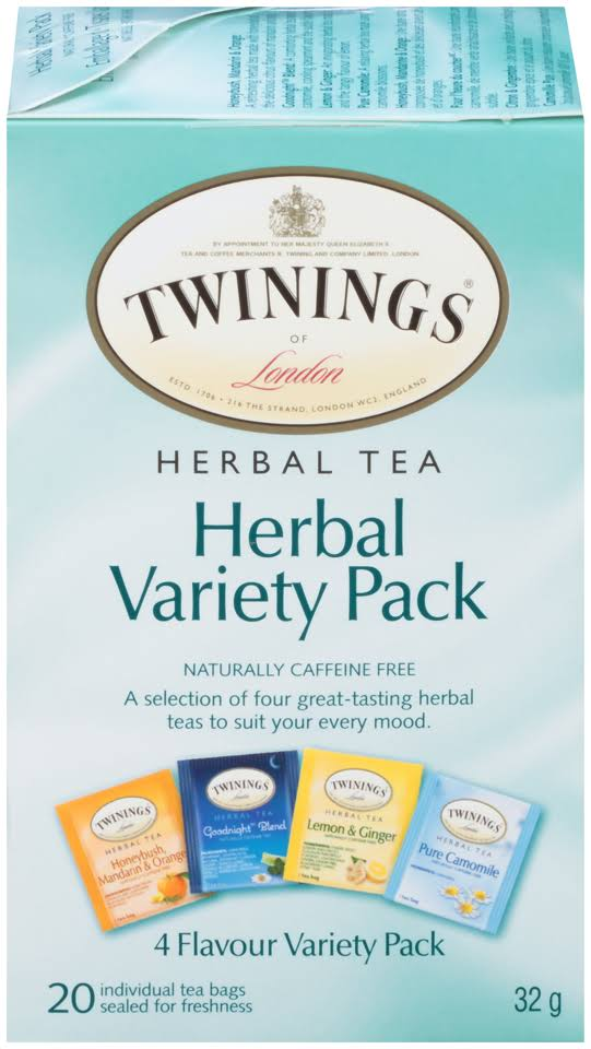 Twinings Herbal Tea, Variety Pack - 20 count, 1.12 oz box