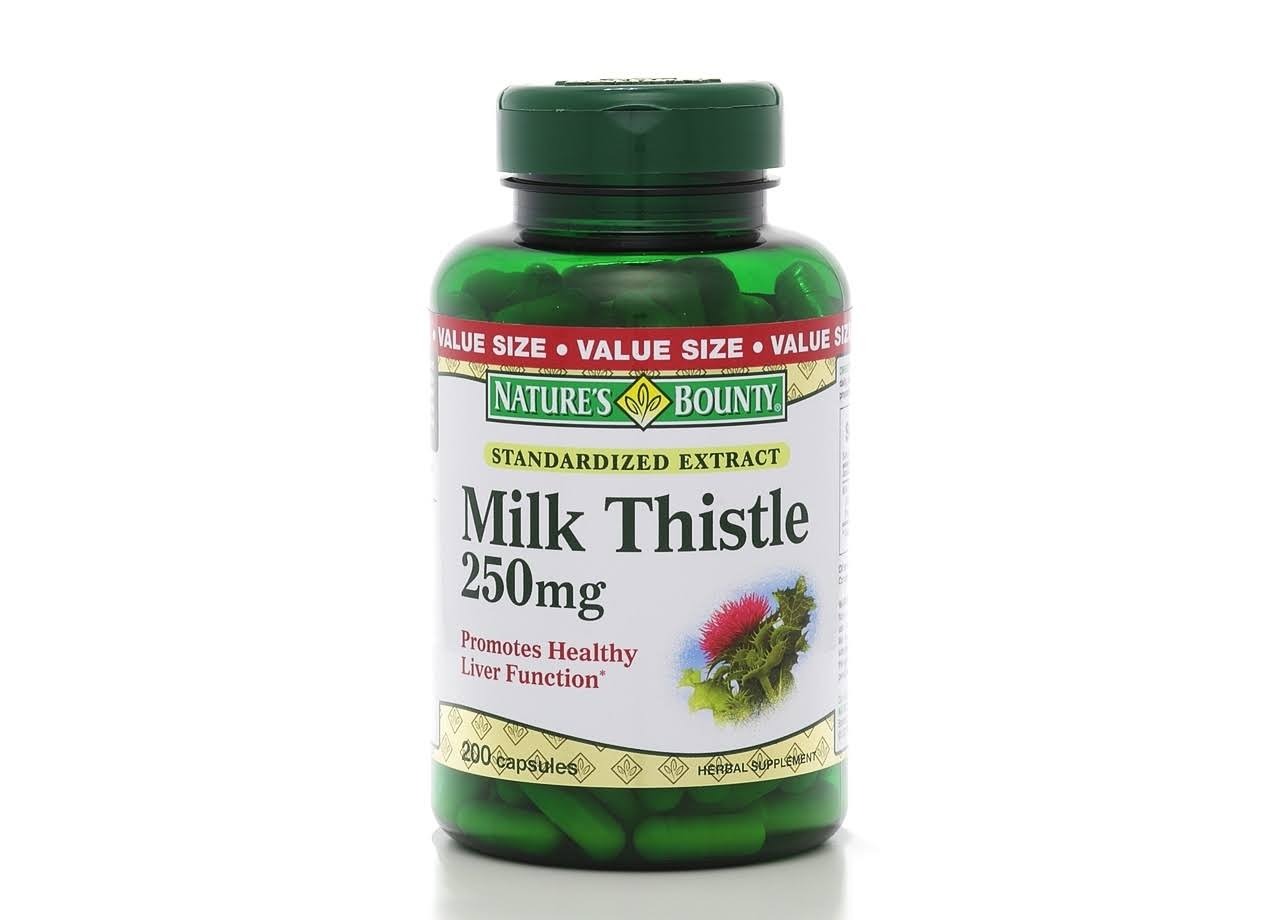 Nature's Bounty Milk Thistle Herbal Supplement - 200 Count