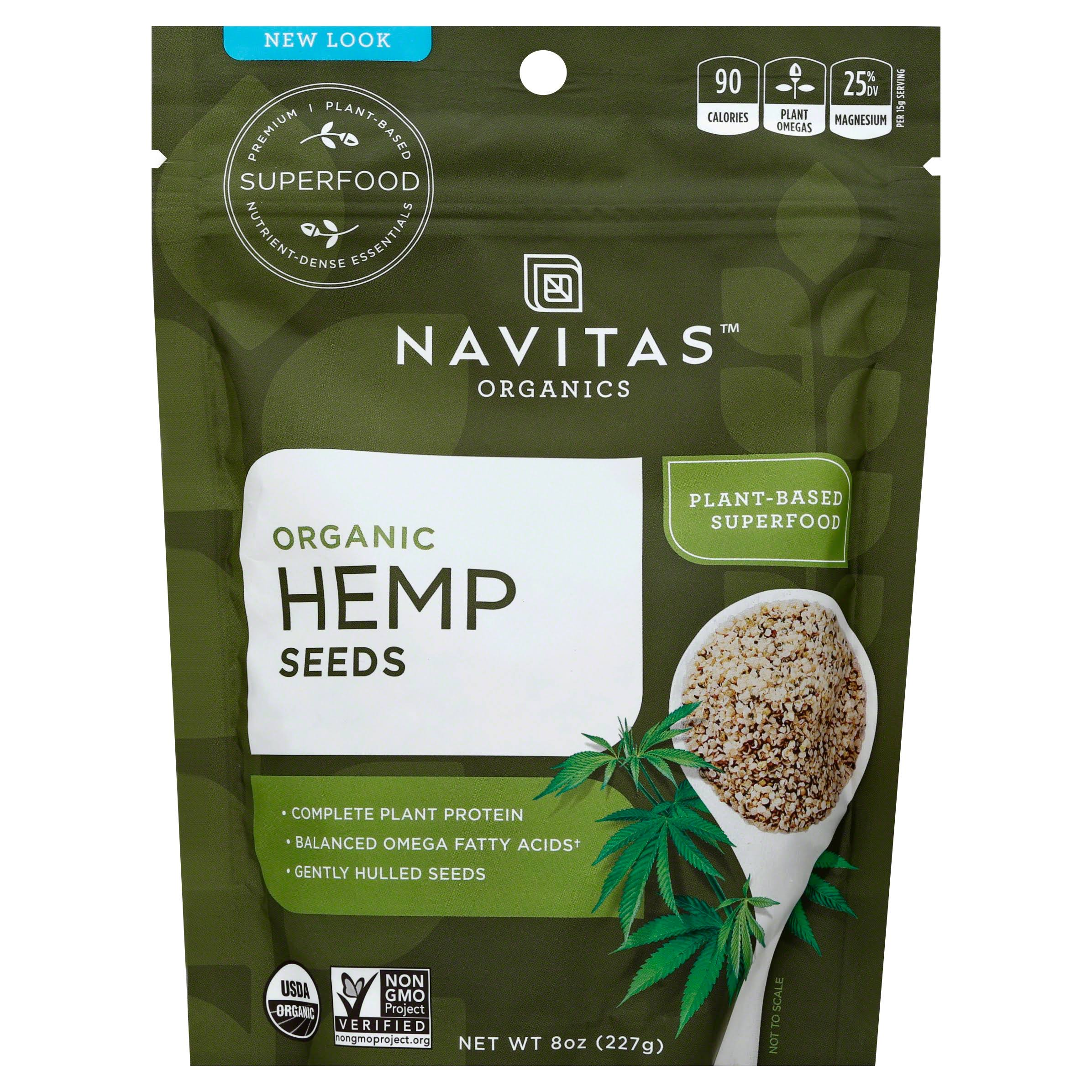 Navitas Naturals Organic Raw Hemp Seeds Pouches - 227g