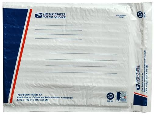 Lepages 81275 8.5 x 11 in. White USPS No. 2 Poly Bubble Mailer