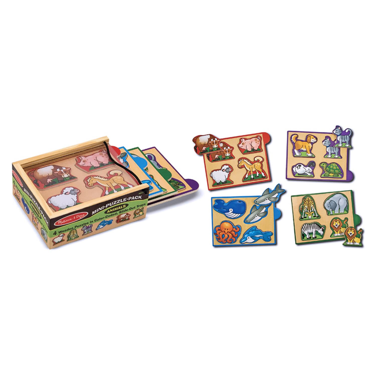 Melissa & Doug Mini Puzzle Pack - Animals
