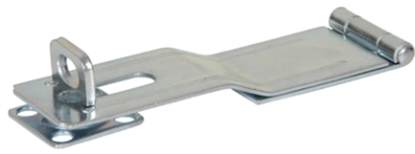 The Hillman Group Swivel Staple Safety Hasps - Zinc Plated, 6""