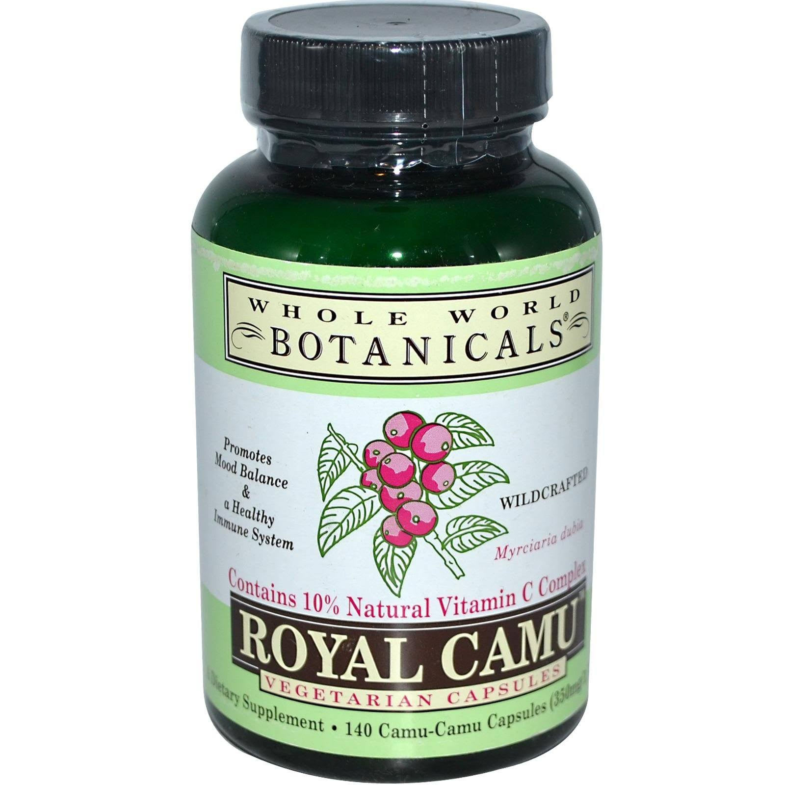 Whole World Botanicals Royal Camu - 140 Vegetarian Capsules