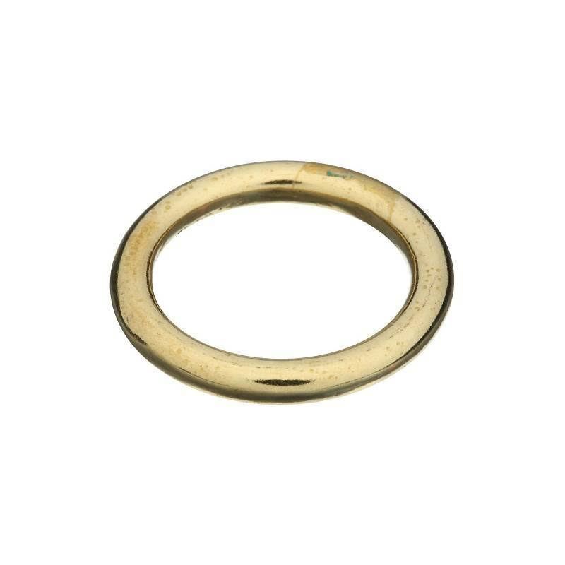 National Hardware Ring - Solid Brass, 1 1/8""
