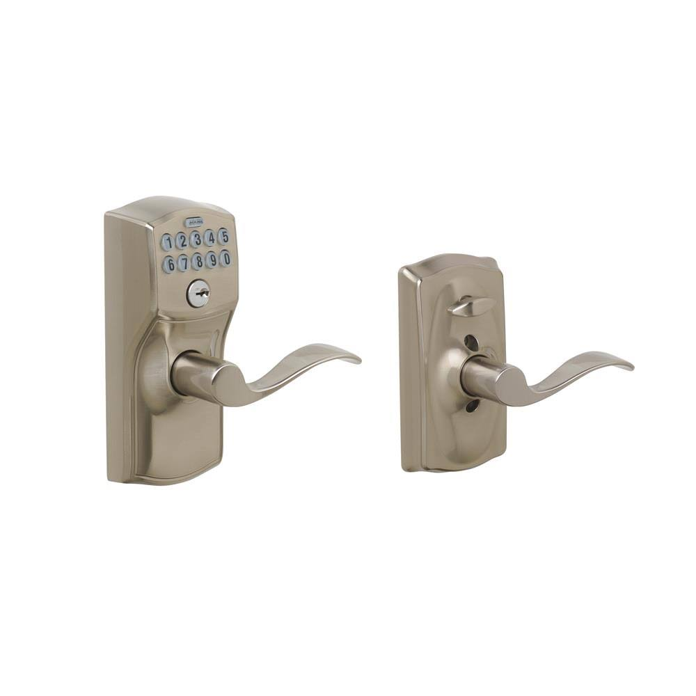 Schlage Camelot Keypad Accent Lever Door Lock - Satin Nickel
