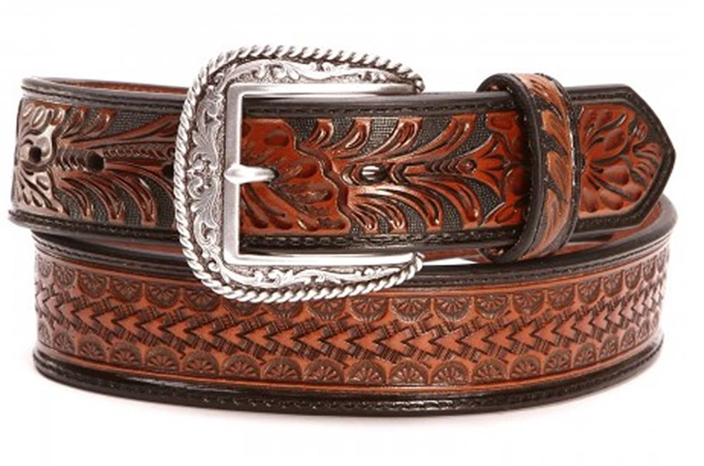 Ariat Embossed Floral Tooled Belt