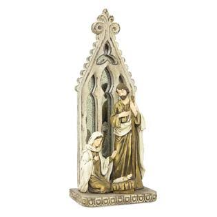 Melrose Holy Family with Arch Resin Figurine