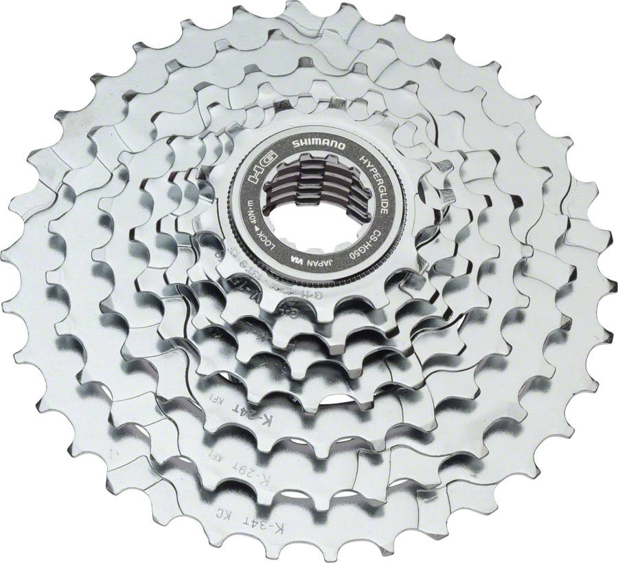Shimano HG50 7-Speed Mountain Bike Cassette - Silver