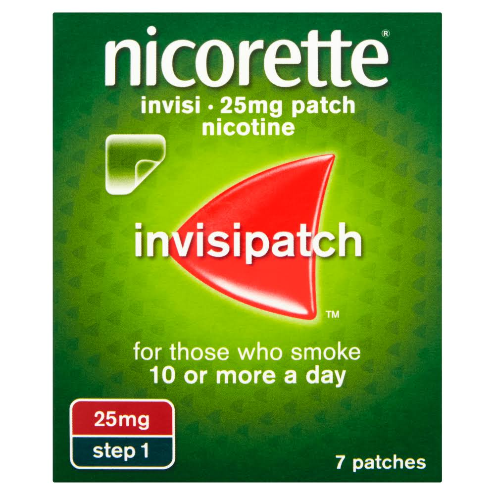Nicorette Invisi Patch Nicotine - 25mg, 7 Patches