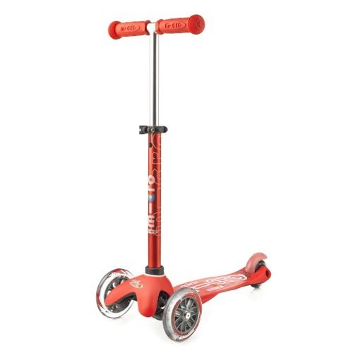 Micro Mini Deluxe Kids Scooter - Red, 3 Wheel