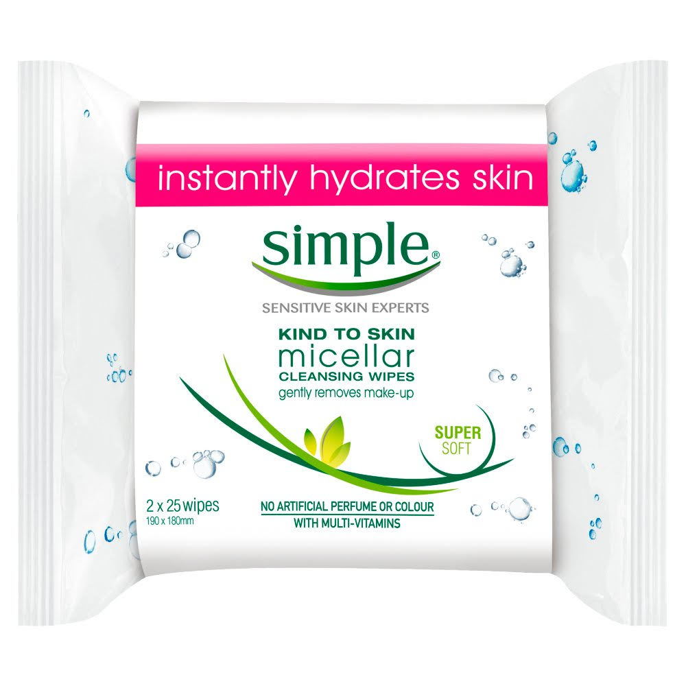 Simple Kind to Skin Micellar Cleansing Wipes - 50 Wipes