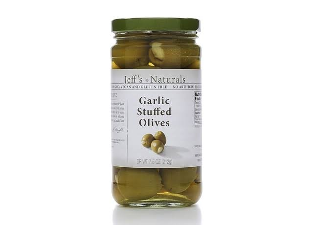 Jeff's Naturals Olives Garlic Stuffed - 7.5oz