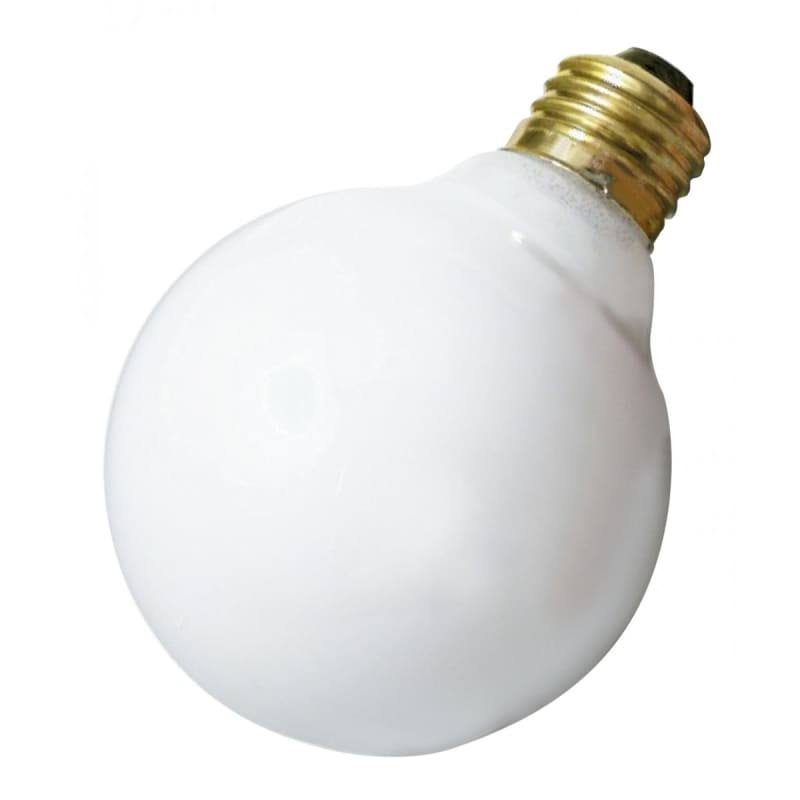 Satco Incandescent Bulb - 25W, 120V, Medium Base, G25