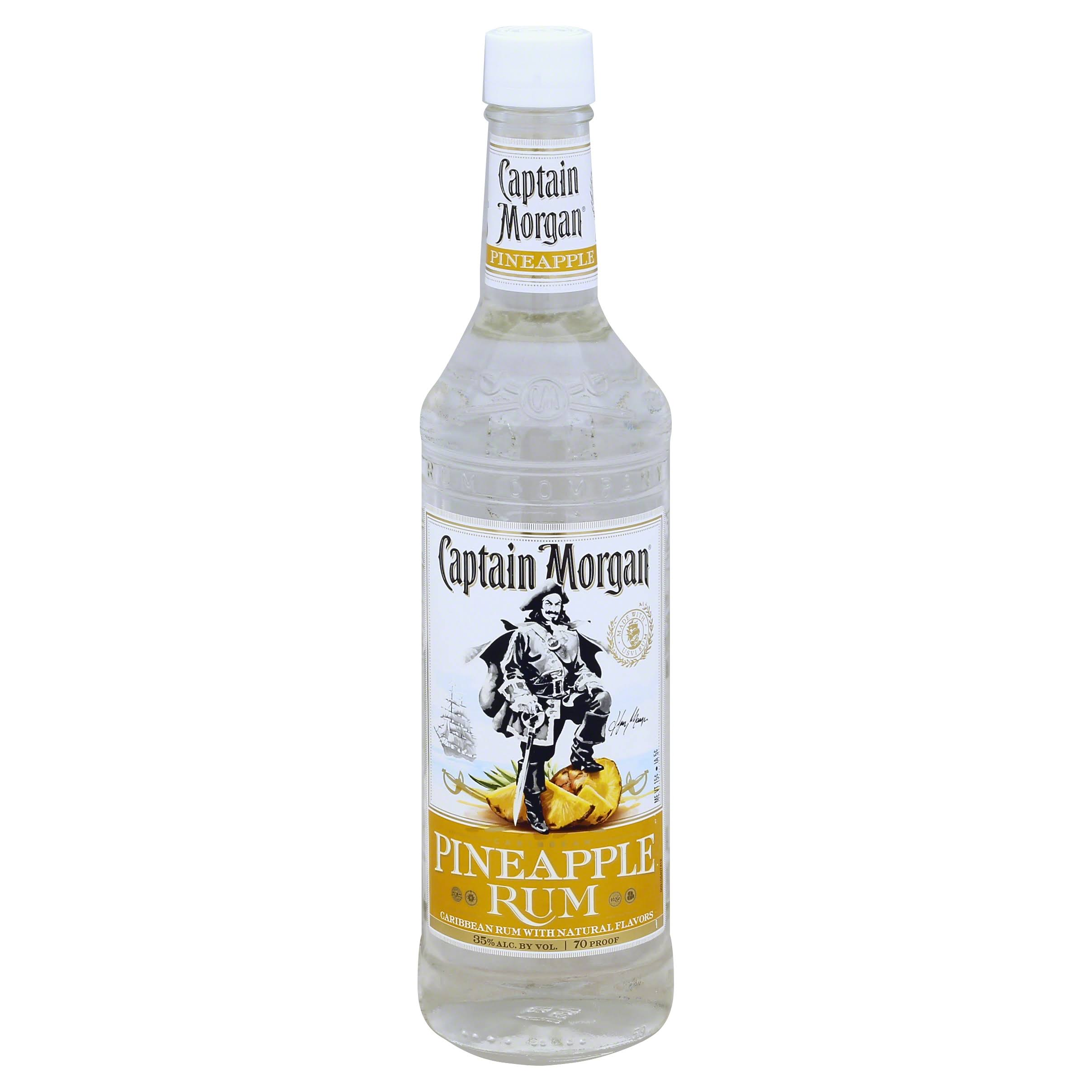 Captain Morgan Rum, Pineapple - 750 ml