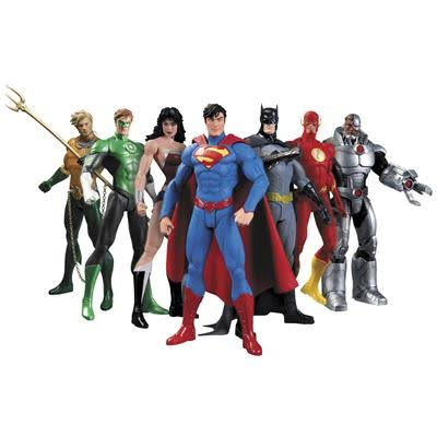Dc Comics Collectible New 52 Justice League Action FIgure - x7
