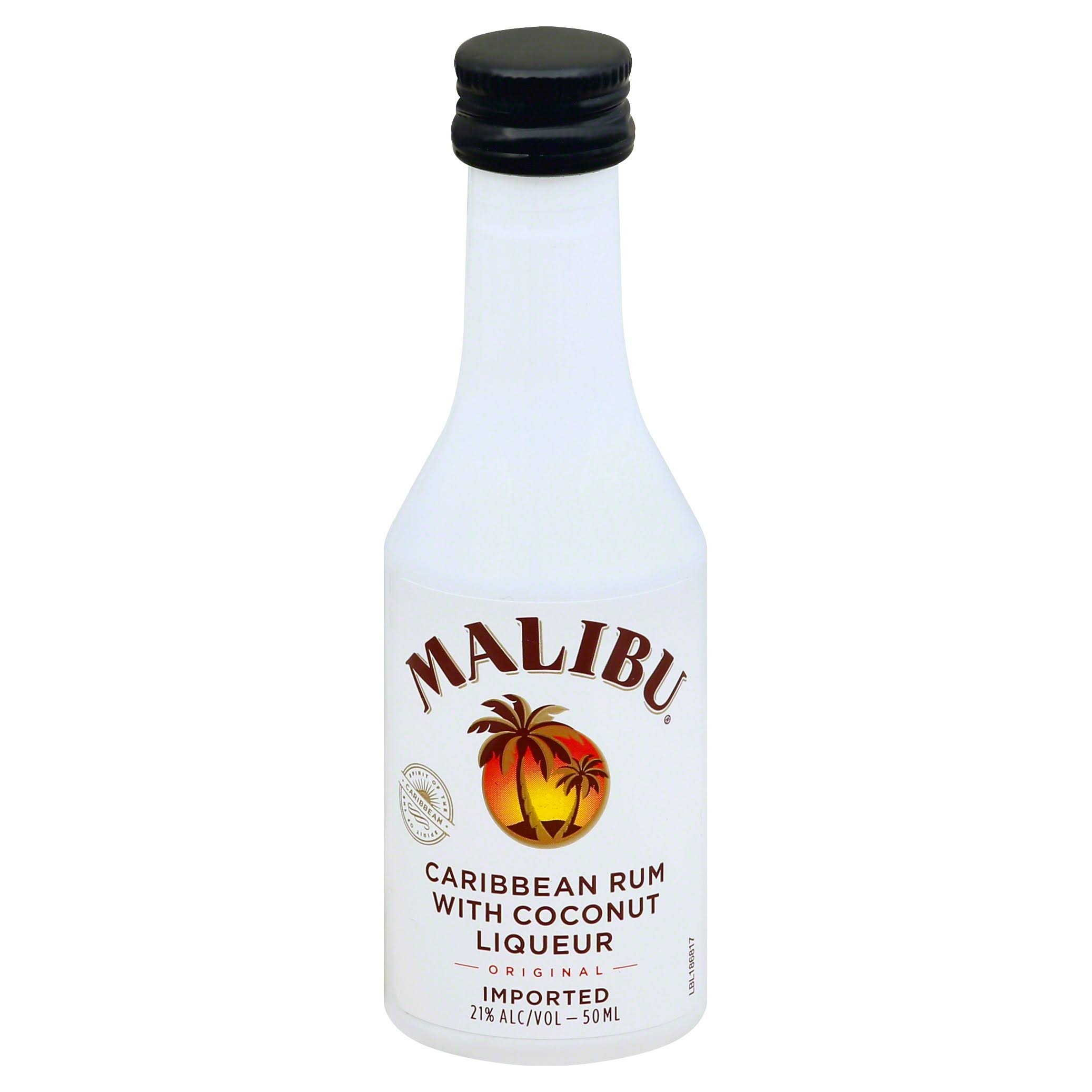 Malibu Rum, Caribbean, with Coconut Liqueur, Original - 50 ml