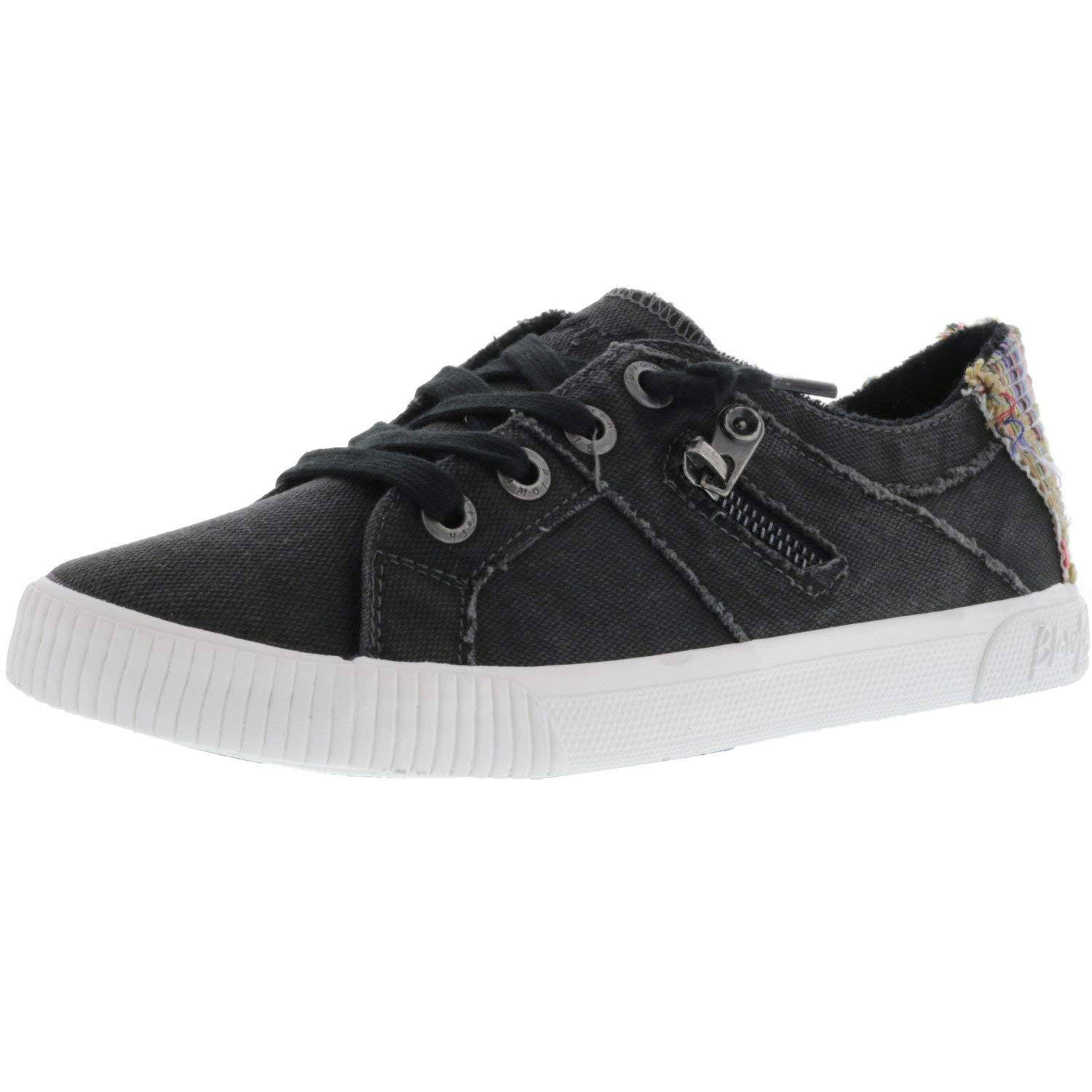 Blowfish Women's Fruit Sneakers - Black Smoked Canvas, Size 8