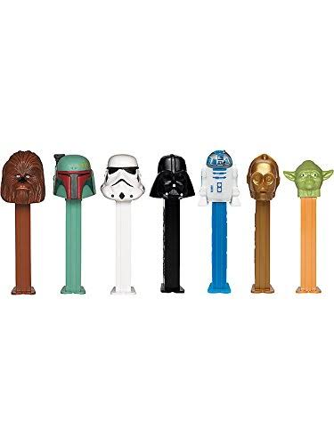 Pez Candy & Dispenser, Star Wars - 12 candy & dispenser