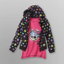 monster high u0027s hoodie sweatshirt u0026 t shirt