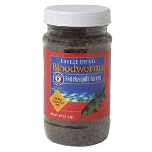 San Francisco Bay Freeze Dried Bloodworms Fish Food - 0.5oz