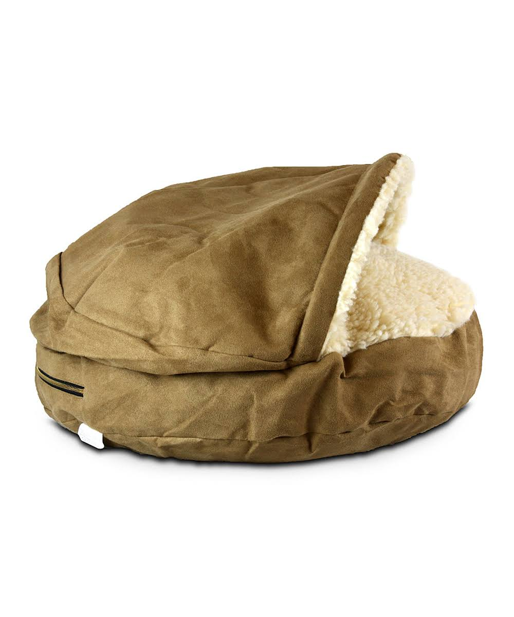 Snoozer Luxury Cozy Cave Pet Bed - Small - Camel