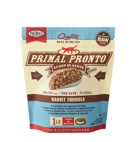 Primal Pronto Cat Raw Frozen Rabbit 1 lb