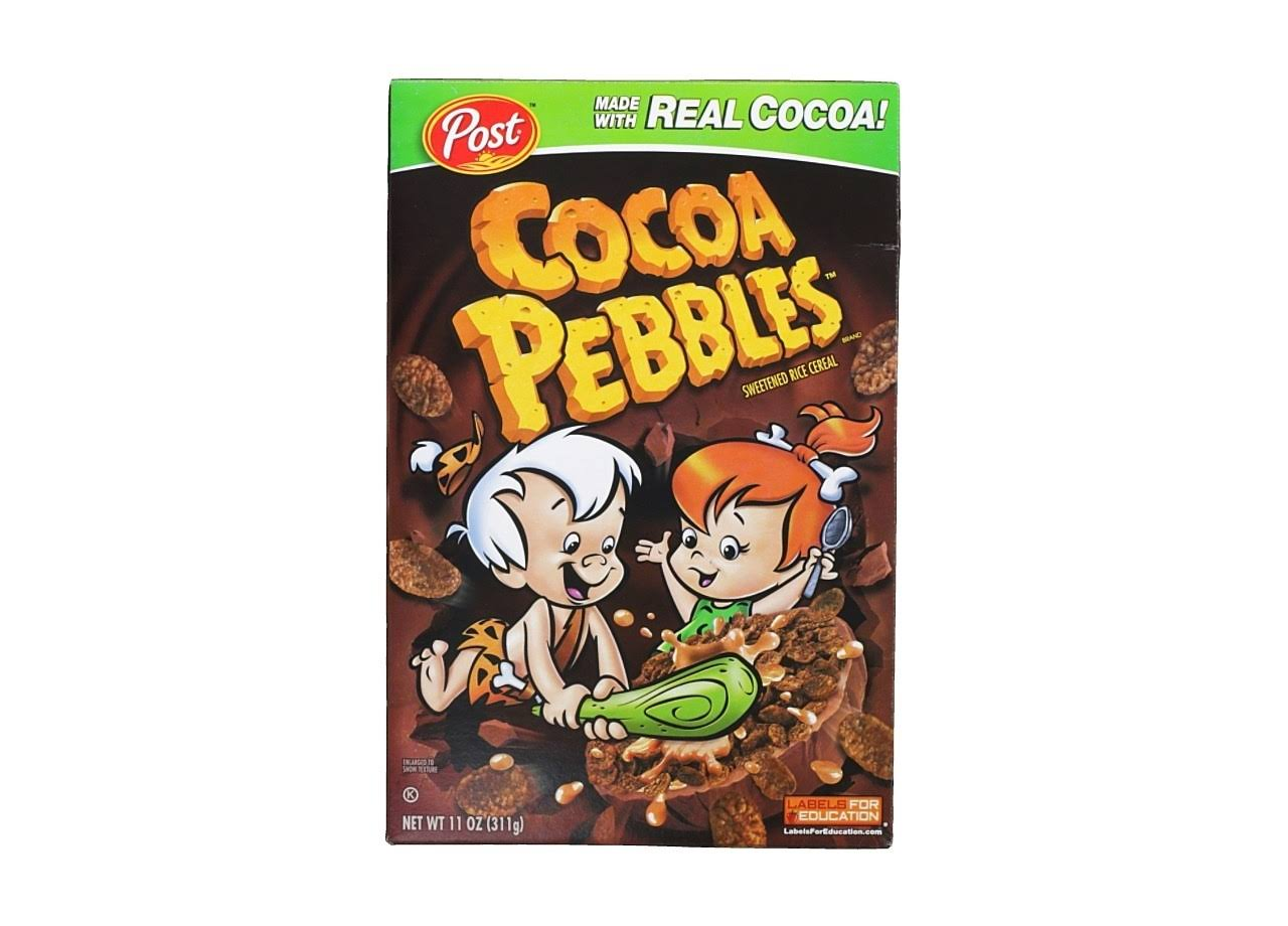 Cocoa Pebbles Sweetened Rice Cereal - Real Cocoa, 311g