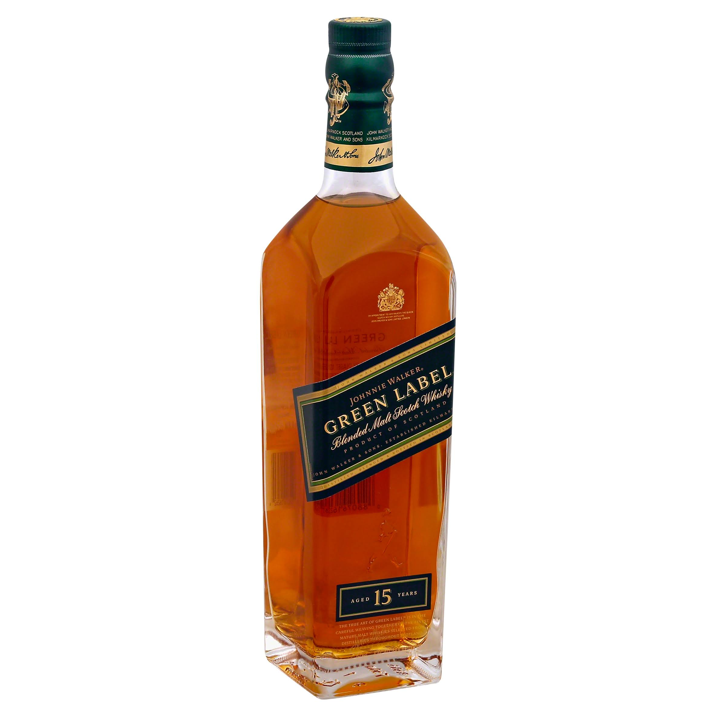 Johnnie Walker Scotch - Green Label, 750ml