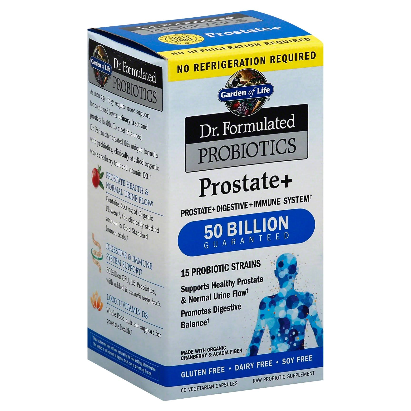 Garden of Life Doctor Formulated Probiotics Prostate Plus Supplement - 60 Vegetarian Capsules