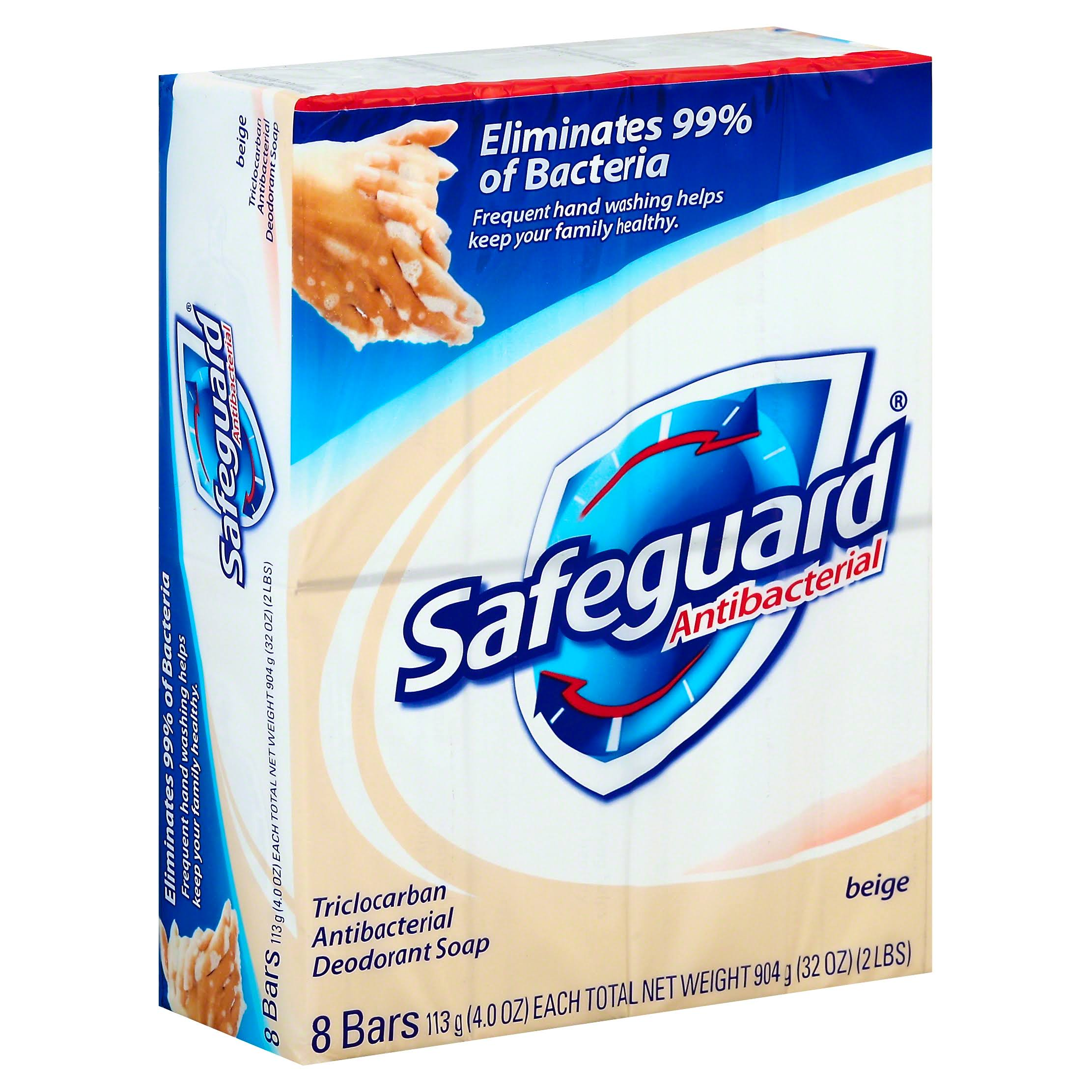 Safeguard Antibacterial Soap - Beige, 8ct