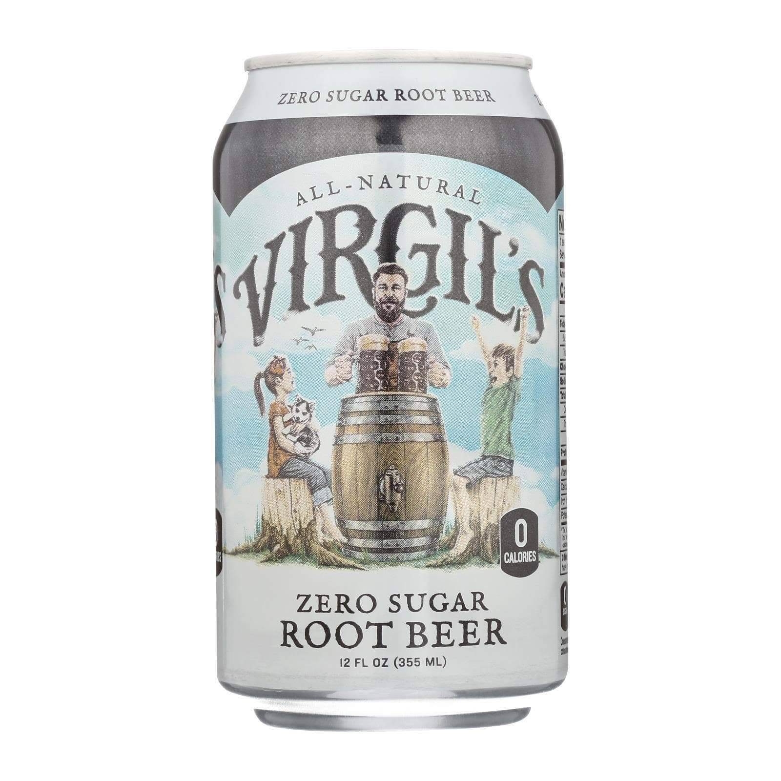 Virgil's Zero Sugar Root Beer - 6 pack, 12 fl oz cans