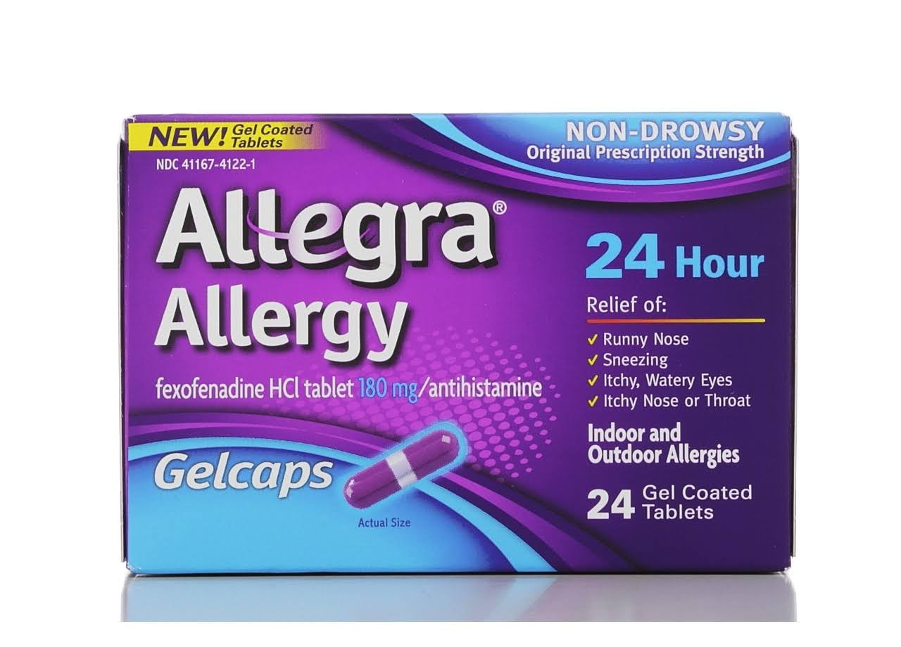 Allegra Allergy Non-Drowsy Gel Coated Tablets