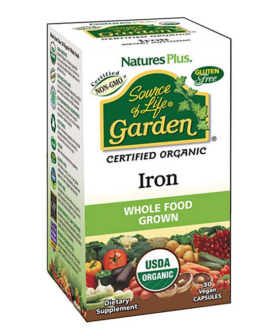 Nature's Plus Source of Life Garden Organic Iron Dietary Supplement - 30ct