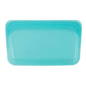 Stasher Reusable Silicone Food Bag - Aqua, 4.5""