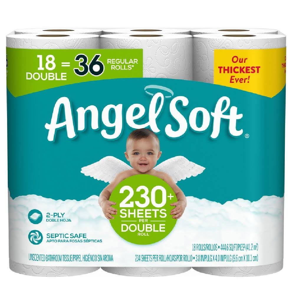 Angel Soft 79172 Toilet Paper, 18 Roll, 234 Sheet