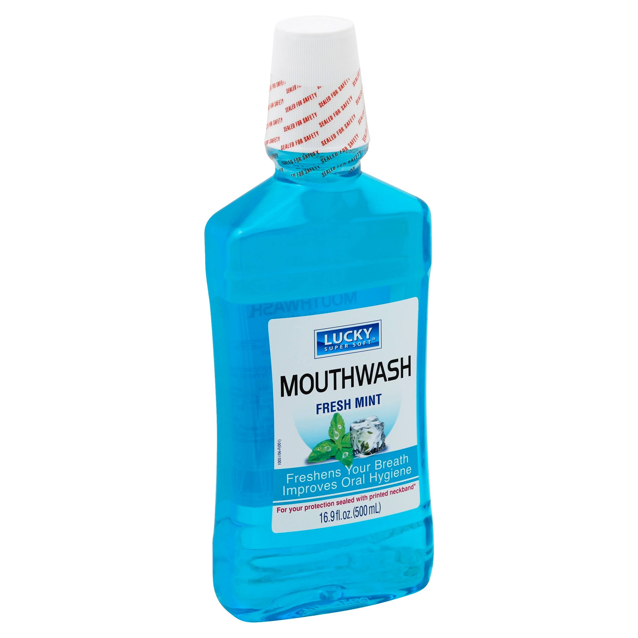 Lucky Mouth Wash - Ice Cool Mint, 16.9oz