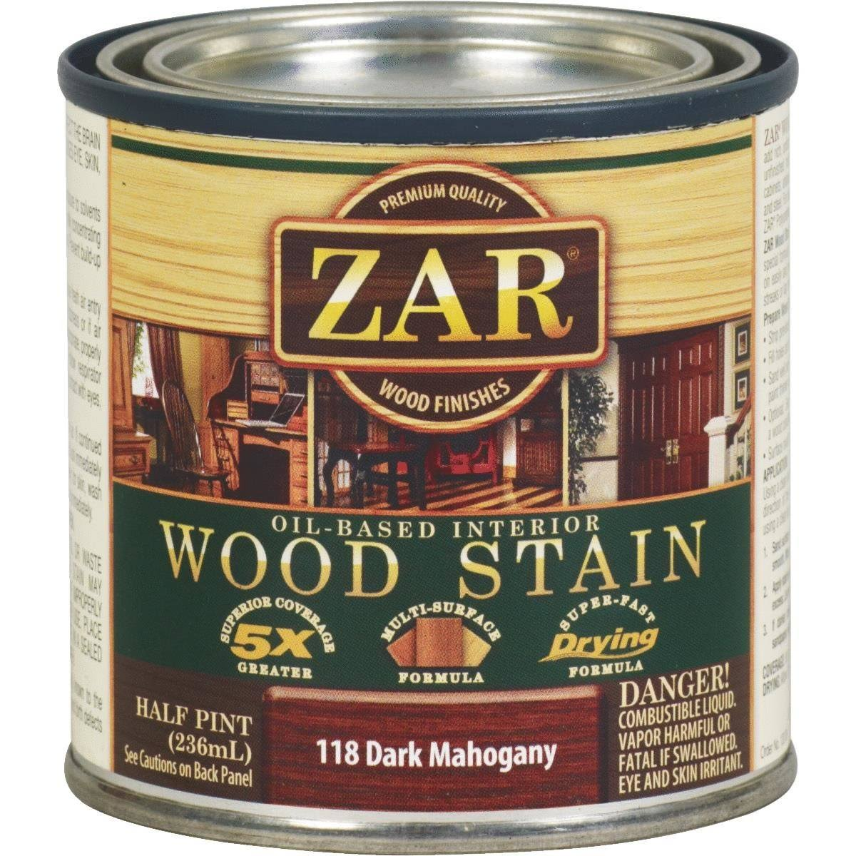 Zar Oil-Based wood Stain - 118 Dark Mahogany