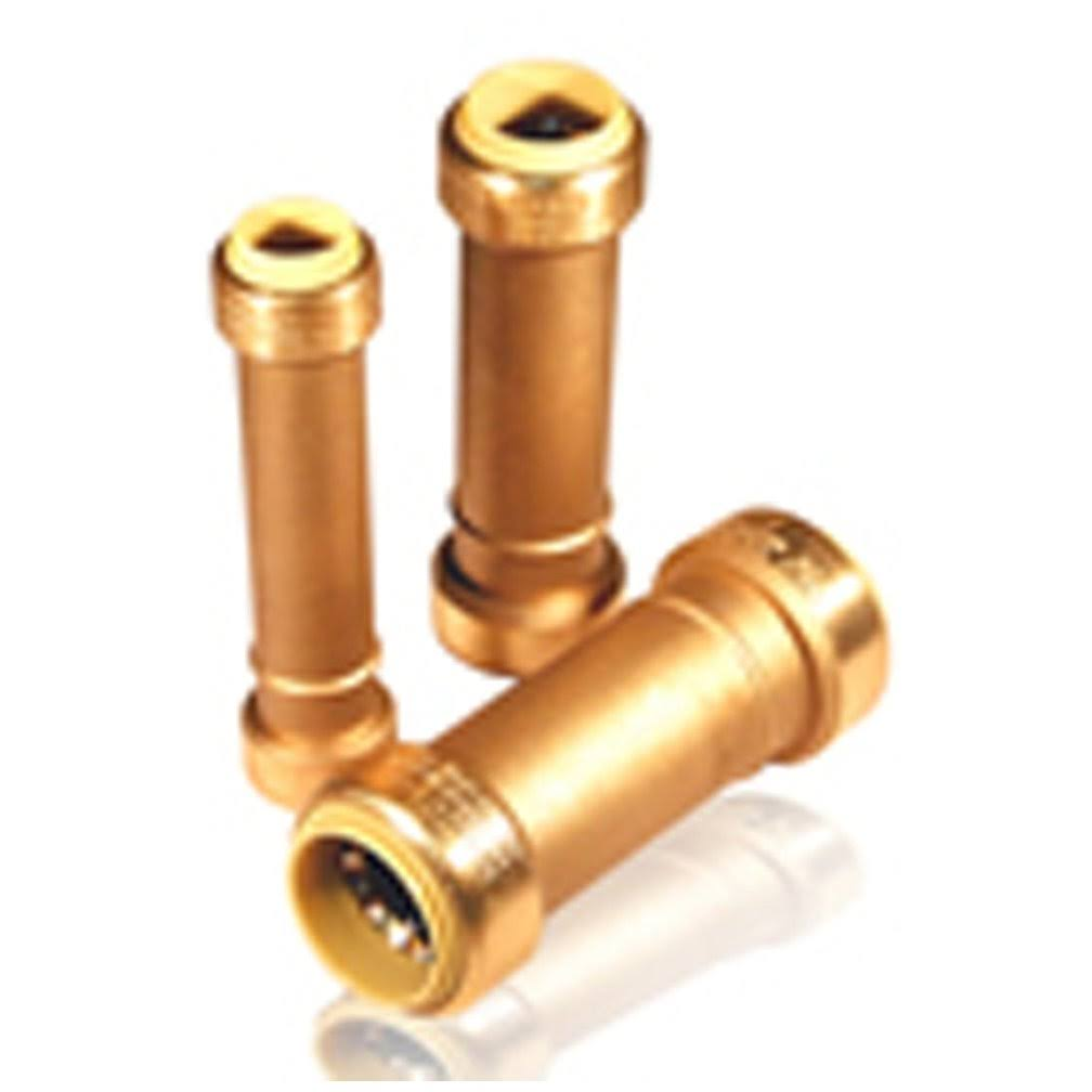 Pro Bite Push-Fit Tube Repair Coupling - Brass, 3/4""