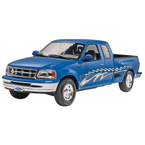 Revell Trucks Plastic Car Kit - '97 Ford F-150 XLT Pickup Truck, 1:25 scale
